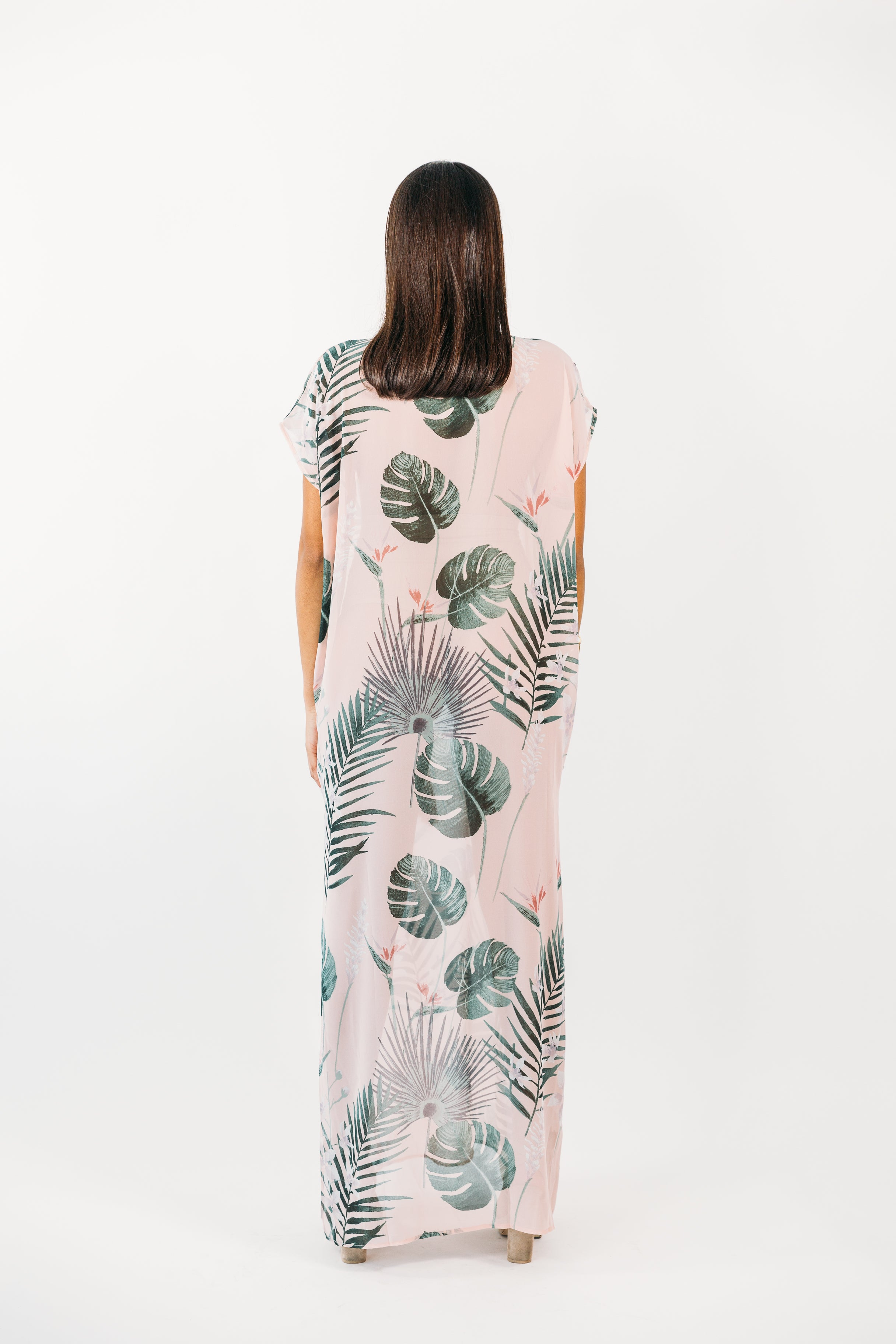 Banana Leaf Cover Up Dress