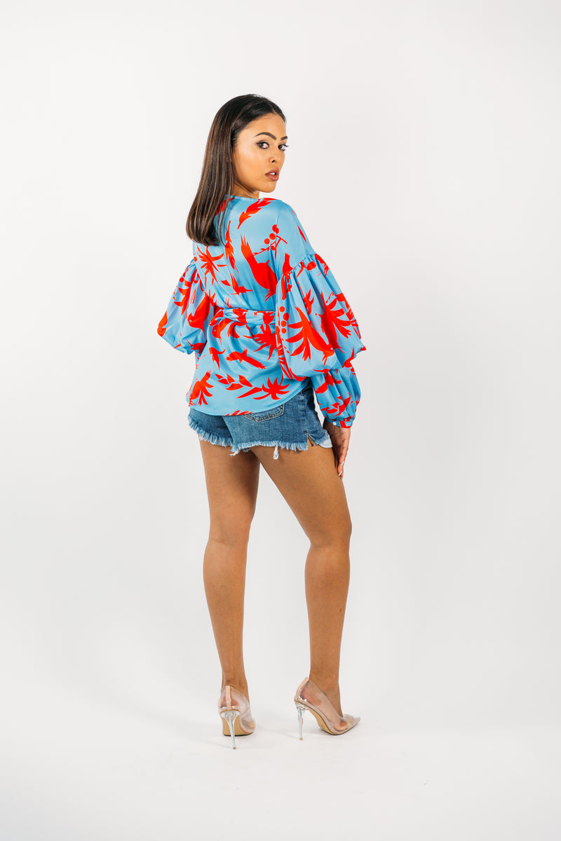 Print Wrap Around Top