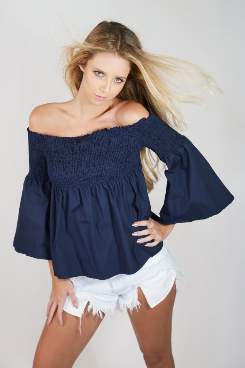 Off The Shoulder Flare Blouse