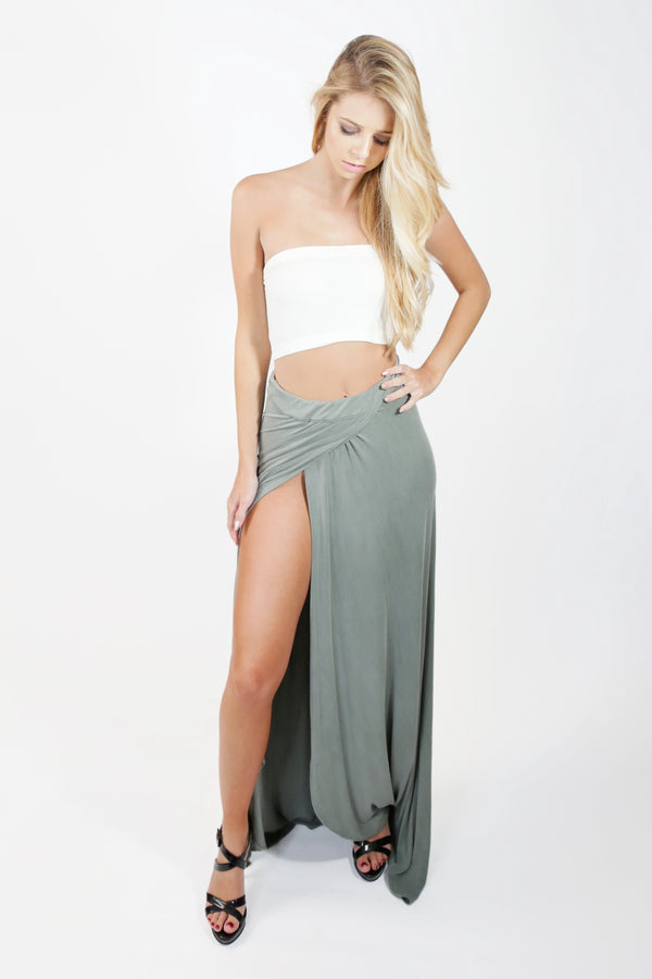 Wrap Slit Skirt