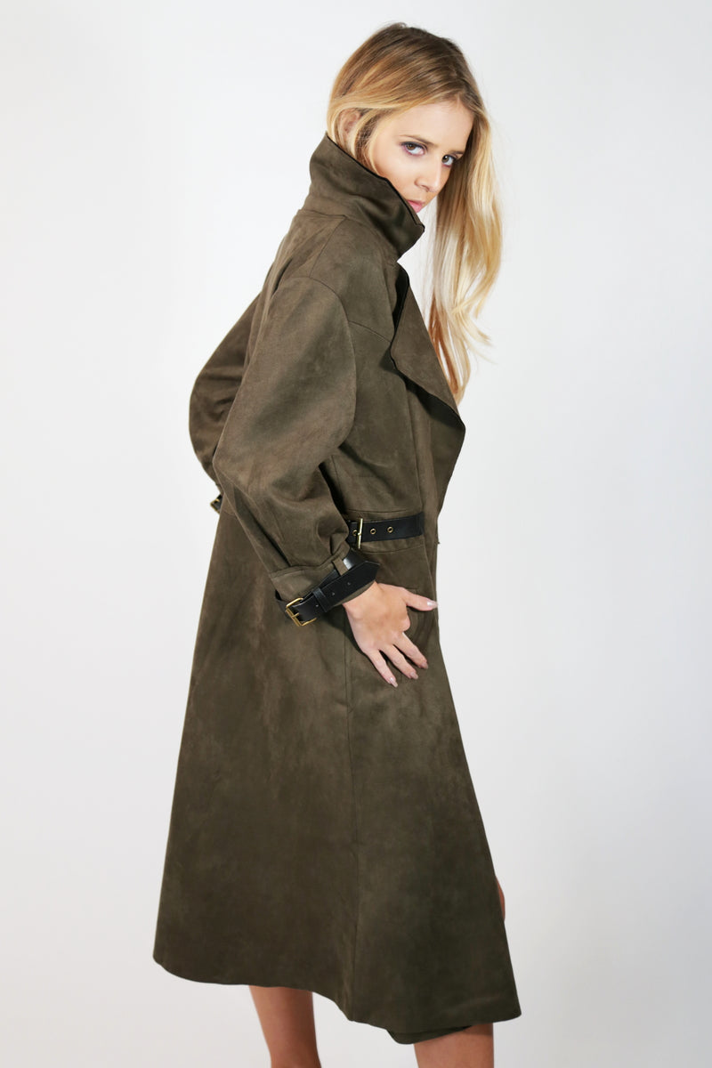 Suede Trench Coat