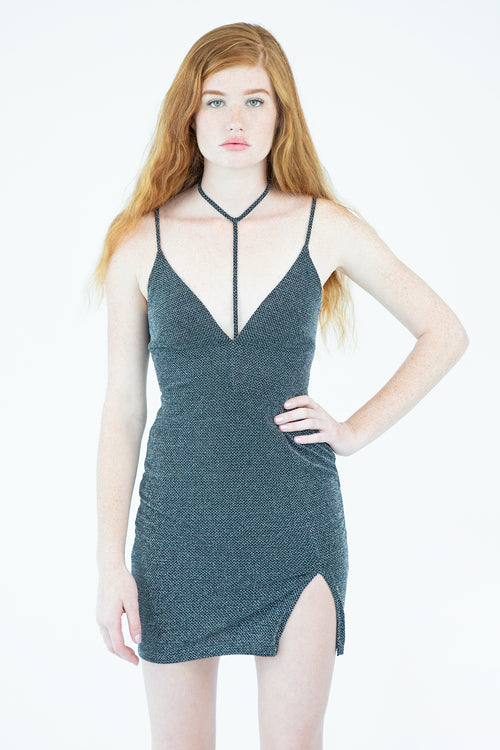 Glitter Knit Mini Dress
