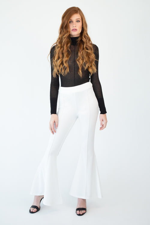 Stretch Woven Flare Pants