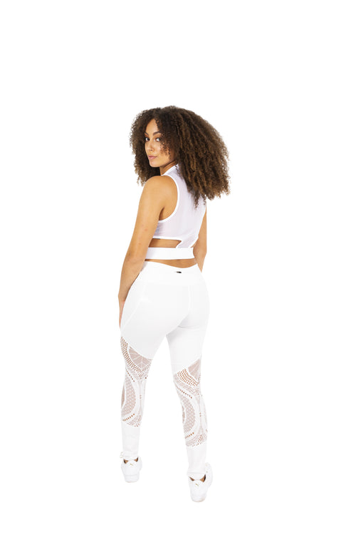 White Activewear Leggings