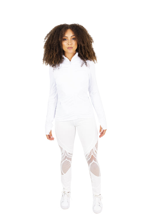 White Activewear Jacket