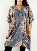Load image into Gallery viewer, Round Neck Midi Dress Light Fabric Hand Printed
