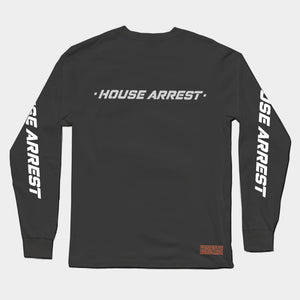 HOUSE ARREST LONG SLEEVE T // BLACK