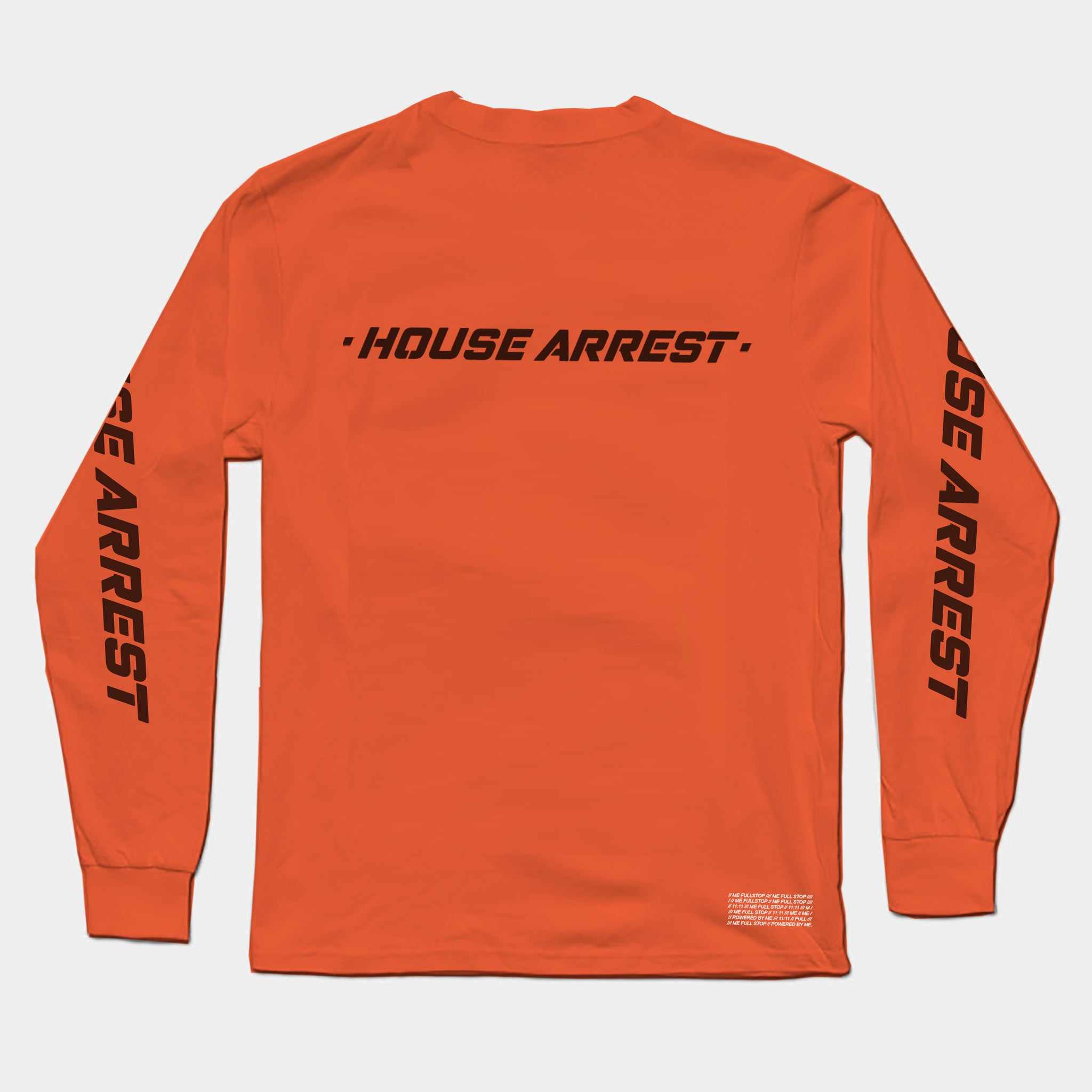 HOUSE ARREST LONG SLEEVE T // BLOOD ORANGE.