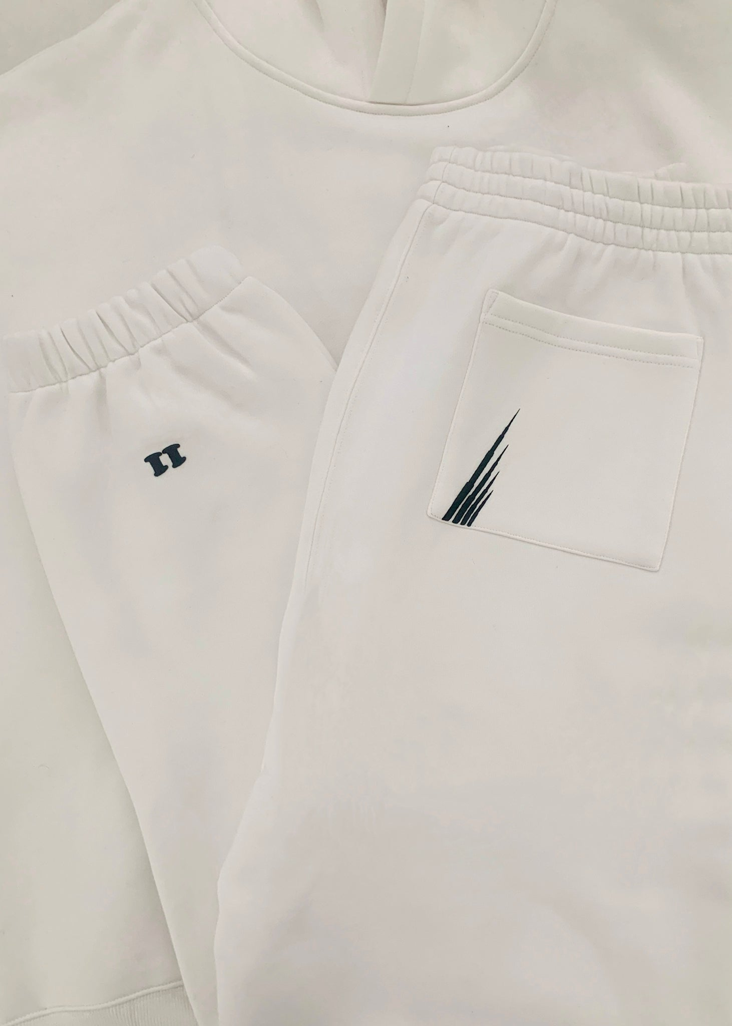 ME WHITE TRACK PANTS // MALE