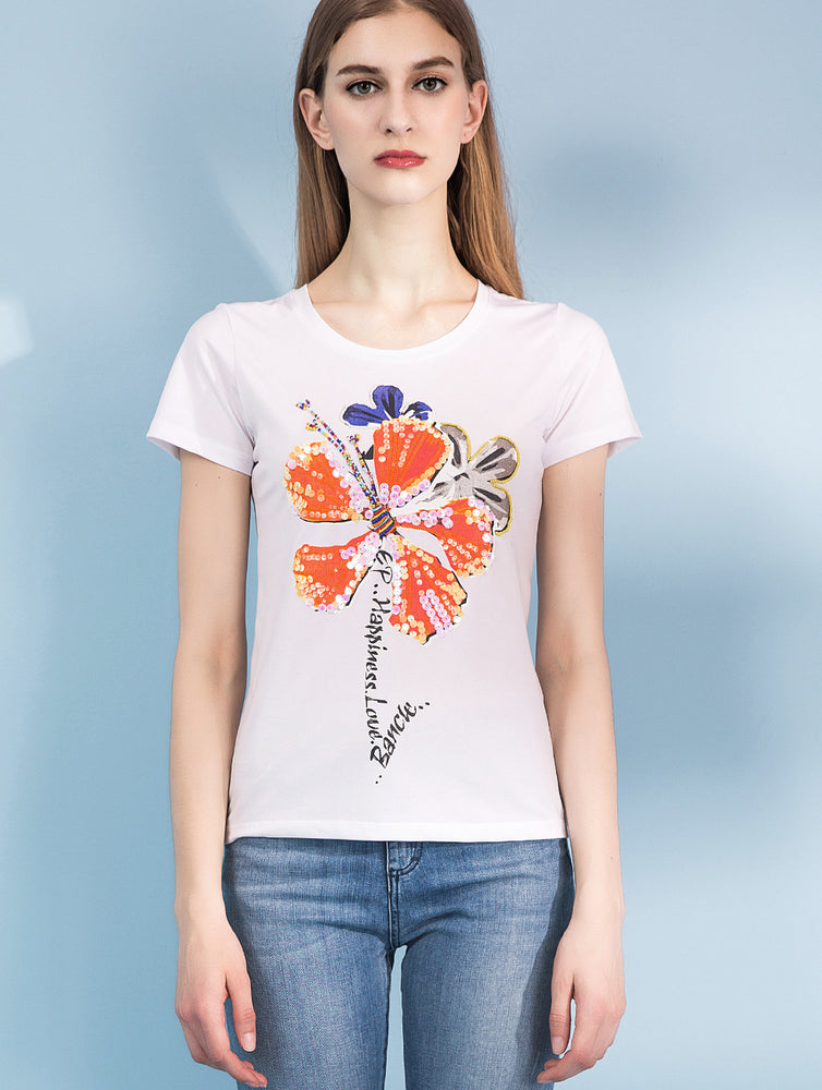 Designed Cotton Printed Short Sleeve T Shirts