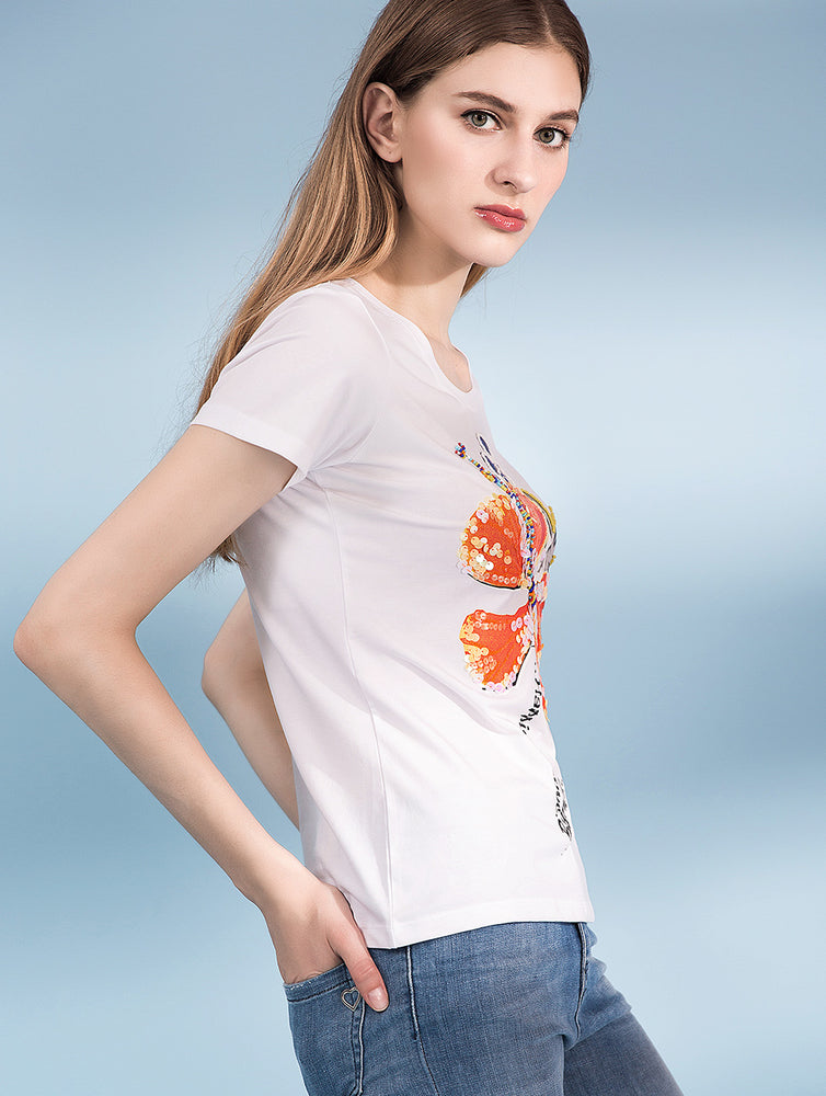 Designed Cotton Printed Short Sleeve T Shirts - zaladys