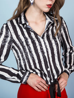 Designed Real Silk Striped Casual Shirts - zaladys