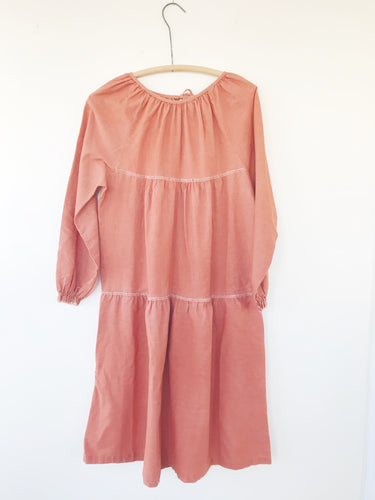 Rust Peasant Dress