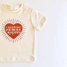 'I Support Human Rights' onesies and tees