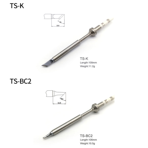 Soldering iron tips for mini TS100 soldering iron