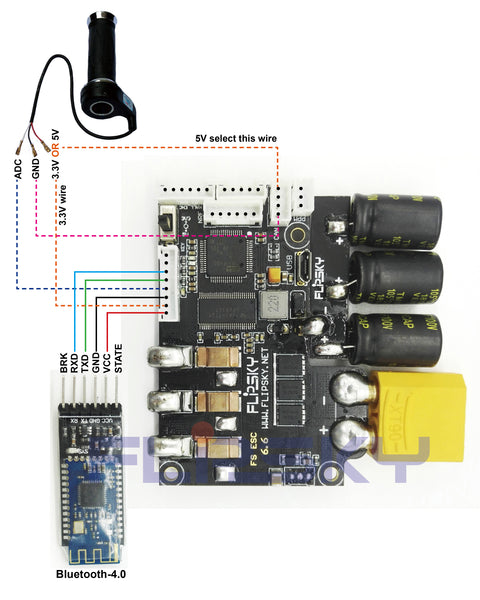 VESC6 and Bluetooth wiring diagram