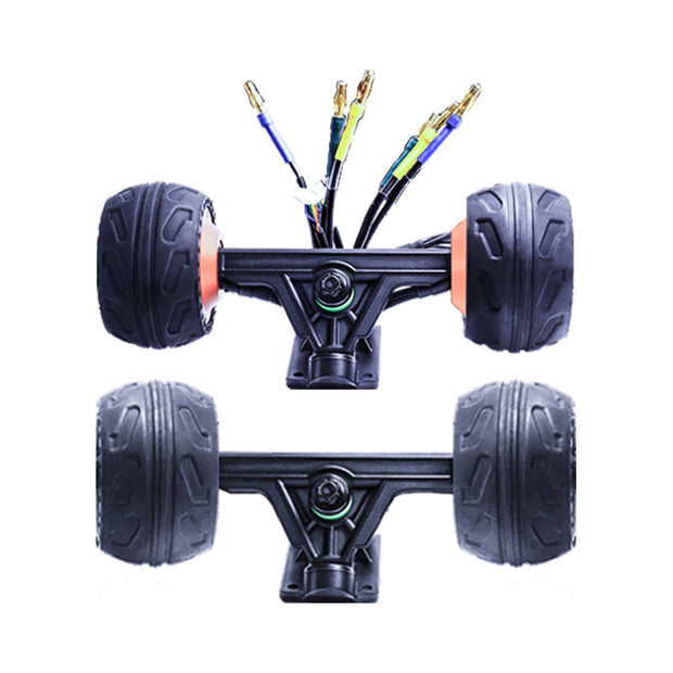 Dual 10568 Hubmotor truck kit with Ruber Tire for DIY electric skateboard