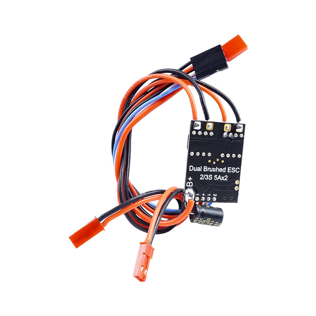 Brushed ESC Dual Way Speed Controller 2S-3S 5AX2 ESC Speed Control For RC Vehicle Car Airplane