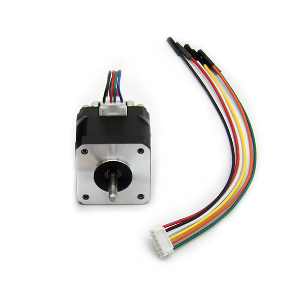 Stepper Motor 42 Motor 1.5A (17HS4401) High Torque 42N.cm (60oz.in) 42BYGH 1.8 Degree 38MM 4-Lead with 1m Cable and Connector for DIY CNC 3D Printer