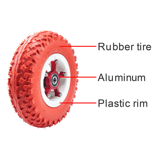 8'' ATM Wheels 200*50mm Inflatable Longboard Rubber Off Road Wheel For Electrical Skateboard