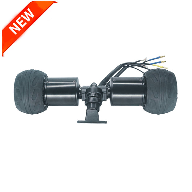 Direct Drive Motor 6575 58KV With Rubber Tire Wheels