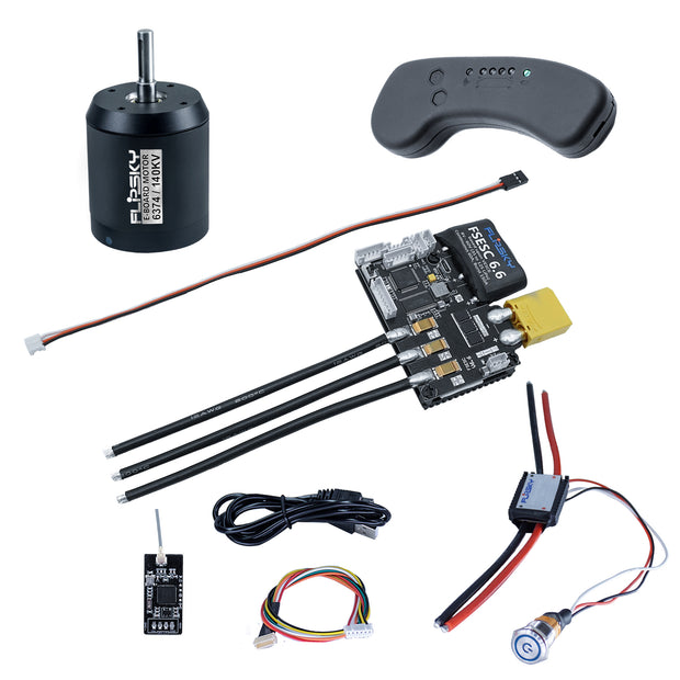 Group S11 Electric Skateboard Kit (Includes FSESC 6.6 and BLDC 6374 Motors)