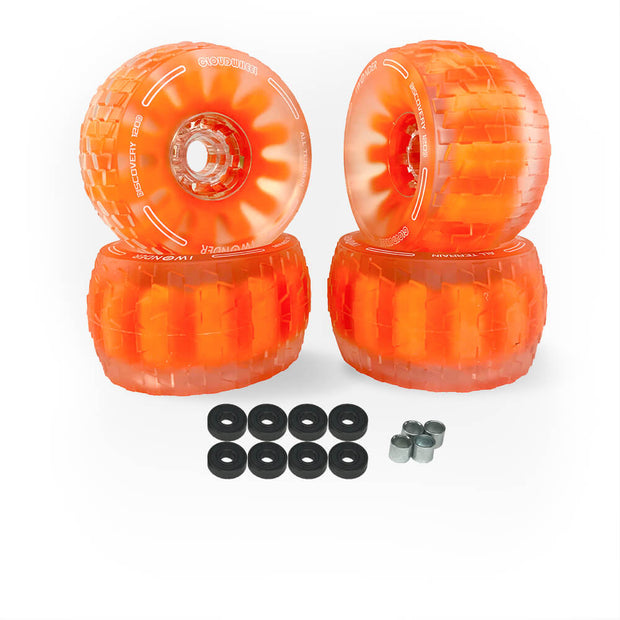 Cloud Wheel Electric Skateboard Wheels All Terrain Off Road 120mm /105mm 78A Translucent Urethane Patented Damping Foam Core Longboard Wheels