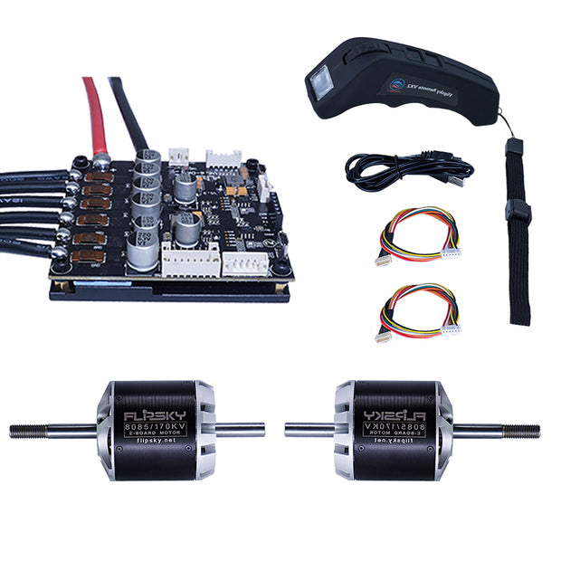 Group D13 Electric Skateboard Kit (Includes Dual FSESC6 Plus and DC motor 8085 ) (4358495469703)