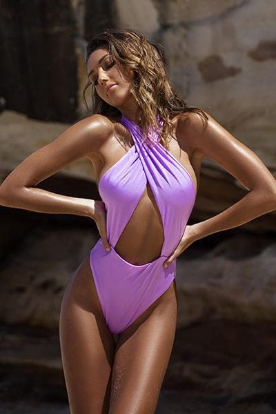 Alessia One Piece Lilac Jewel