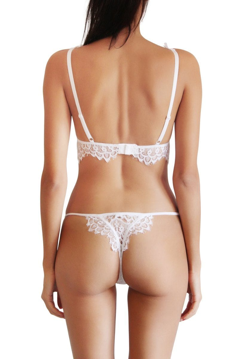 Gia white adjustable thong