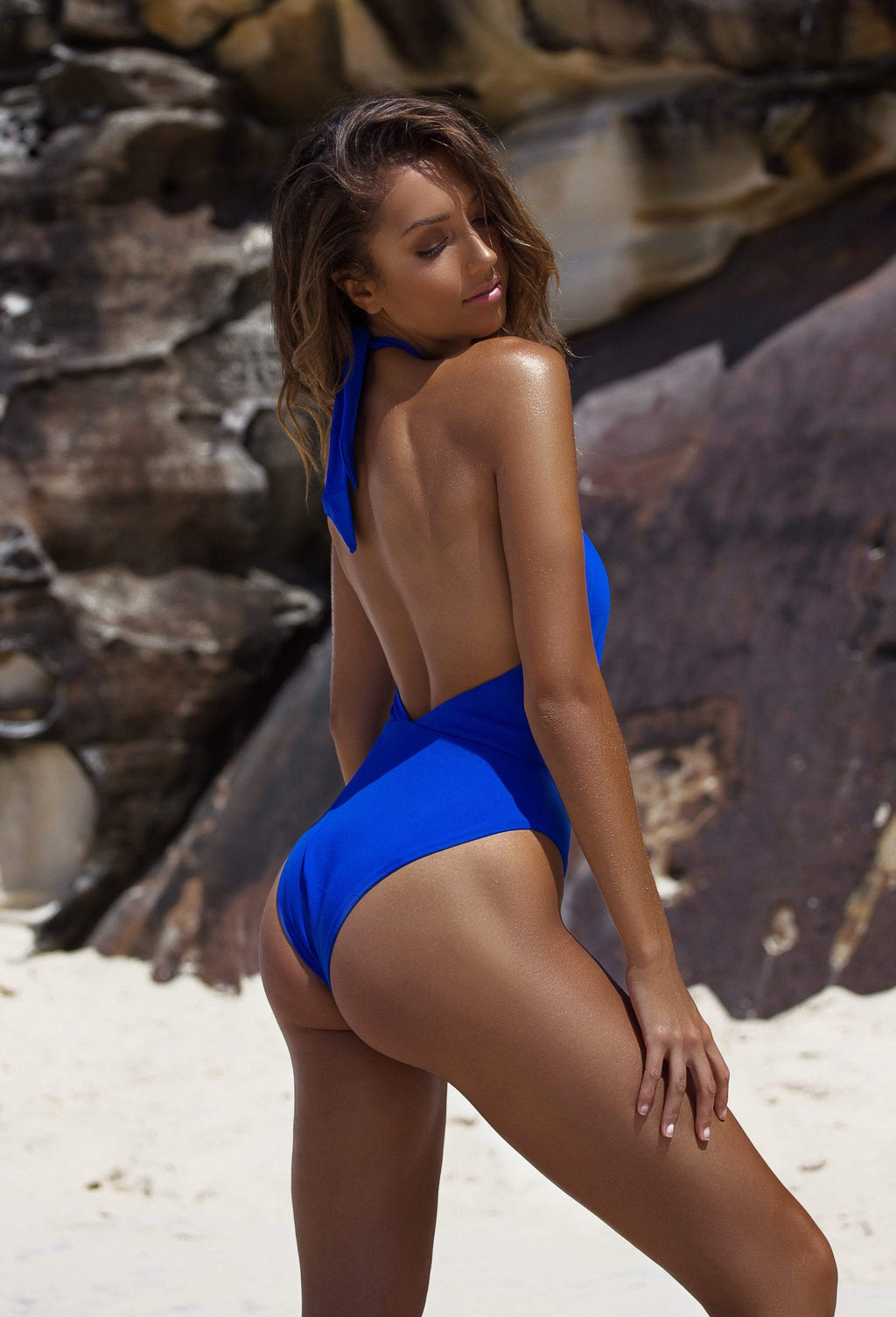 Alessia One Piece Cobalt Blue - Plumeria Swimwear