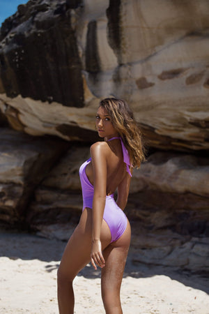 Alessia One Piece Lilac Jewel - Plumeria Swimwear