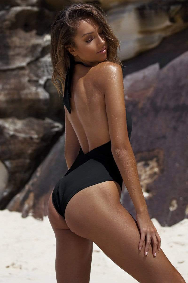 Alessia One Piece Black - Plumeria Swimwear