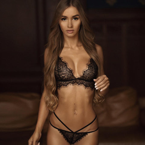 Dawn Lace Black Brief