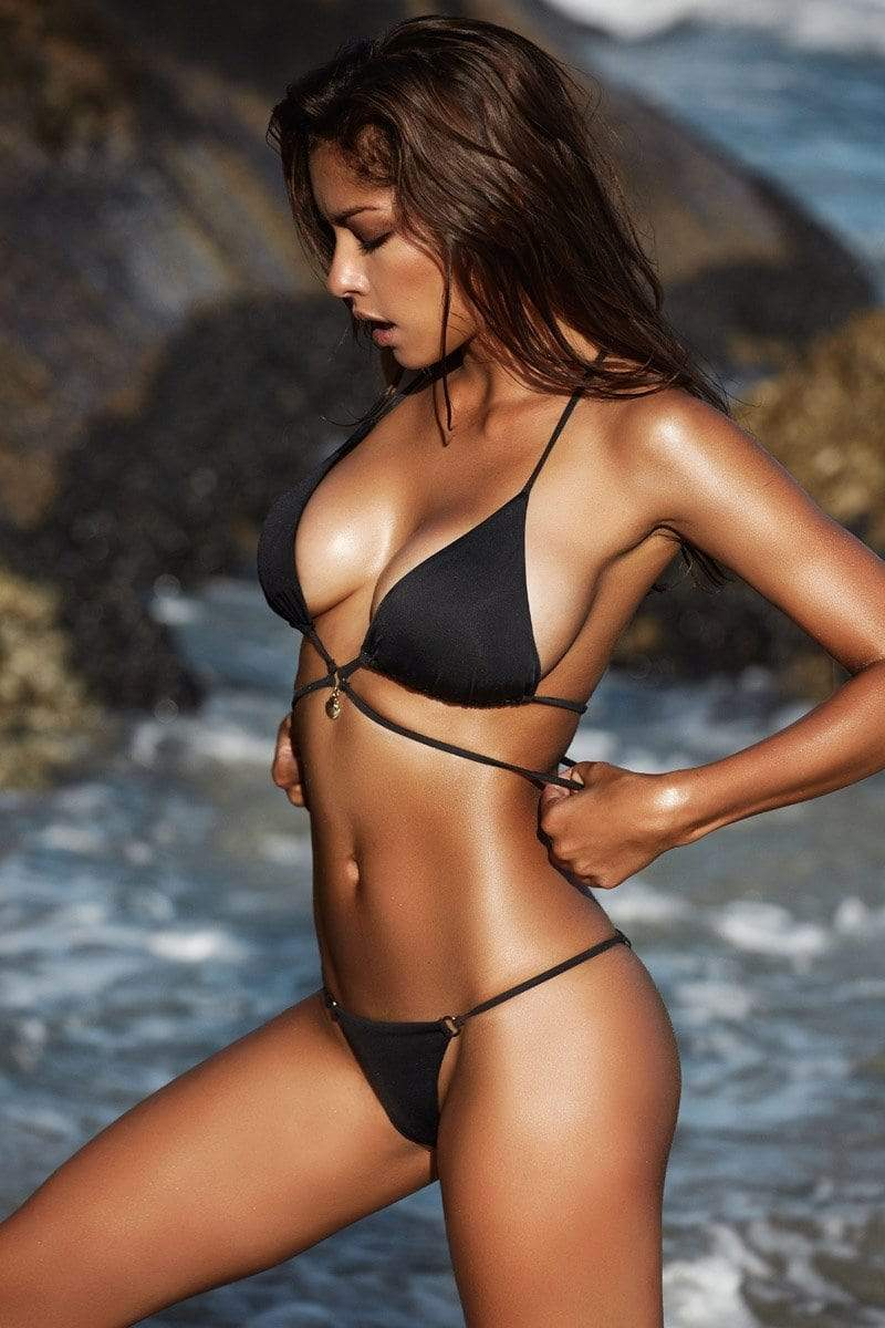 ARIEL BLACK - FINAL SALE - Plumeria Swimwear