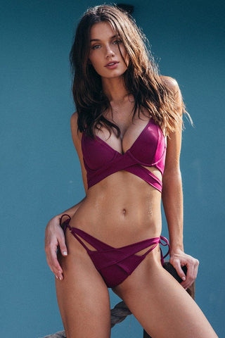 Antigua Bikini Magenta Top - final sale