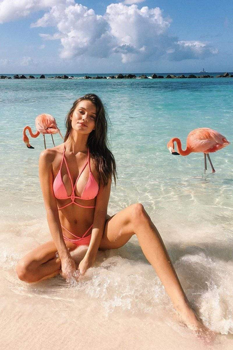 Ava Bikini Flamingo - FINAL SALE - Plumeria Swimwear