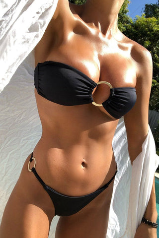 Ava Bikini Black Top - final sale