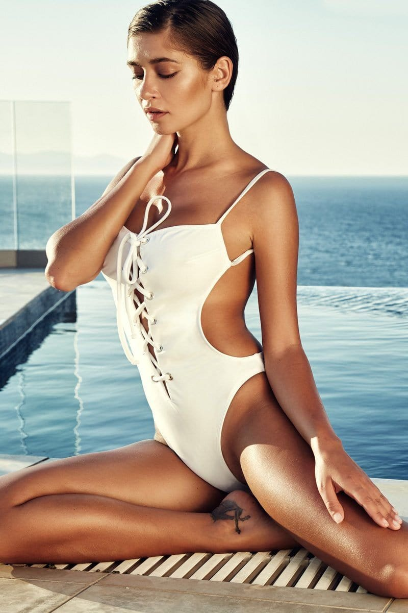 Bella Backless Monokini - Plumeria Swimwear