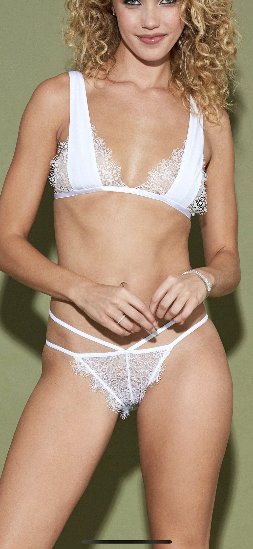 Lolita Bralette in White