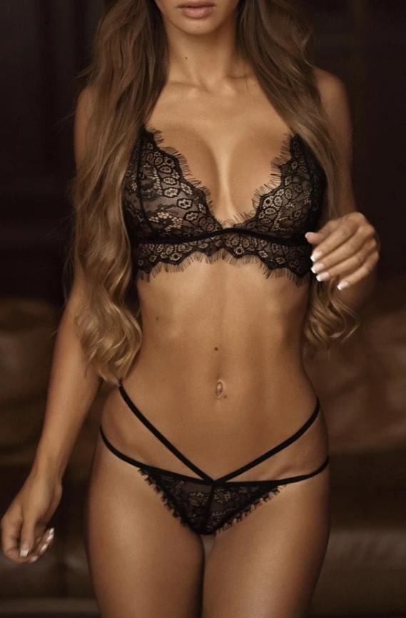 Dawn Lace Lingerie Set black