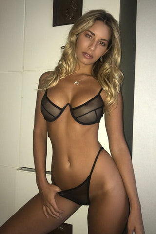 Chardonnay Lingerie set In Black