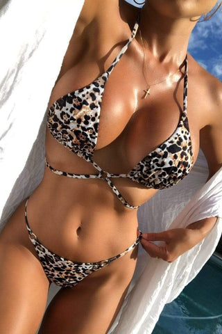 Let's get tan! Thong set Cheetah