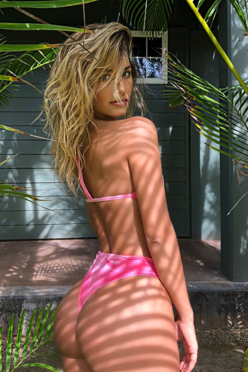 A new Color ! Trouble in Paradise VELVET Barbie Pink - Plumeria Swimwear