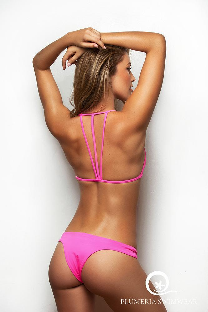 TROUBLE IN PARADISE HOT PINK BOTTOM