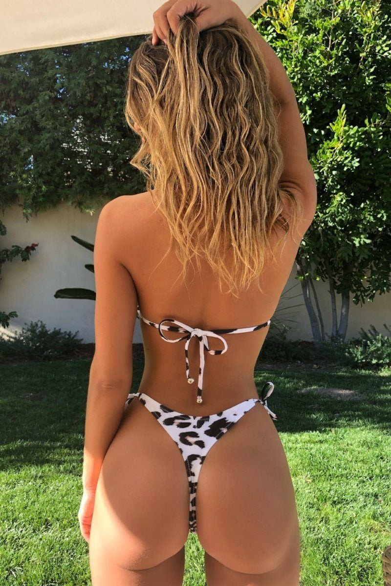 Let's get tan Thong Snow Cheetah top