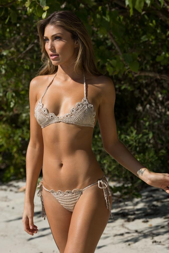 Exuma Bikini light Gold - Plumeria Swimwear