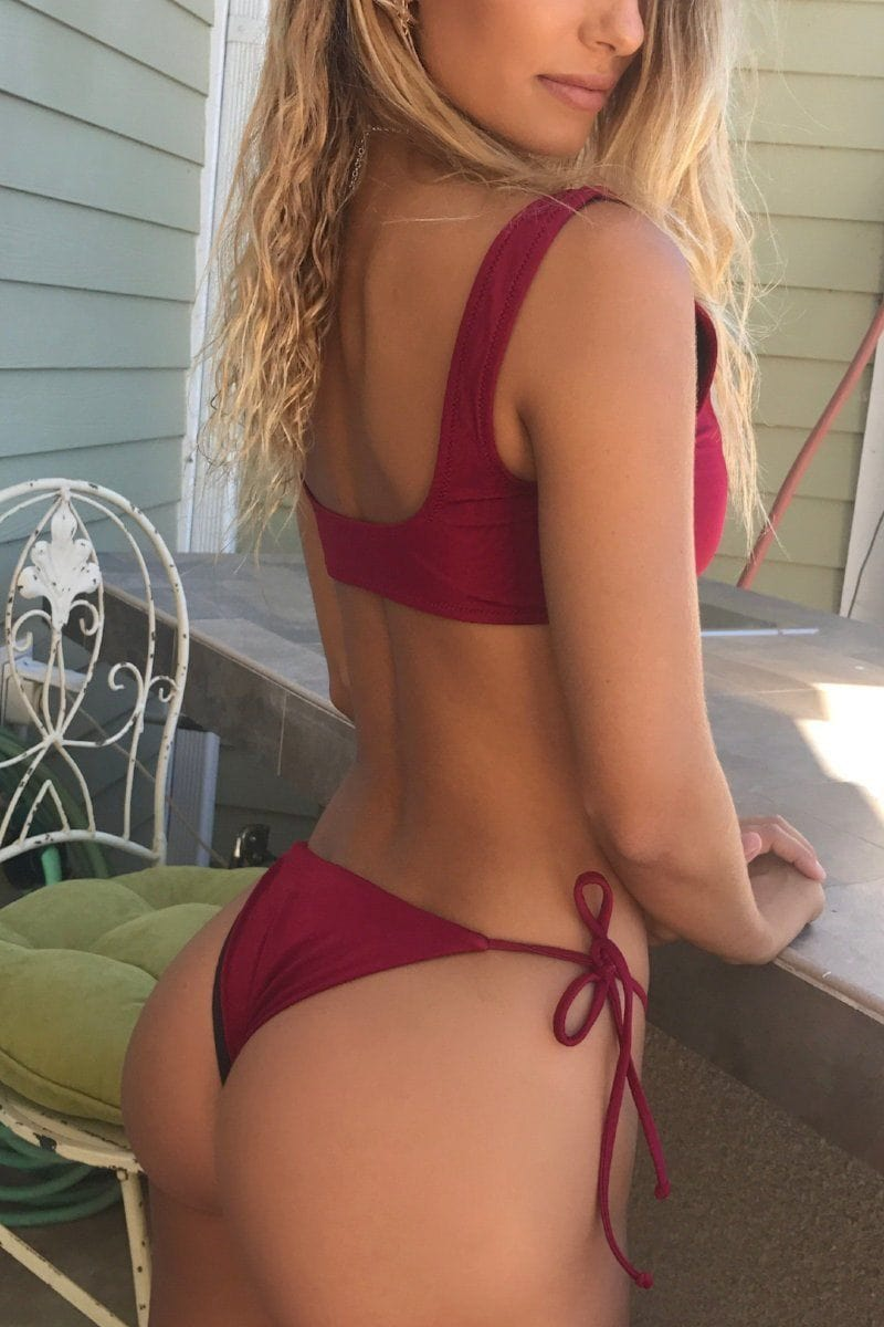 Lucia bikini Cherry Red Top