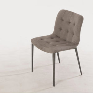 HARBOR CHAIR - MINK  ECOLEATHER AND NATURAL SILVER METAL LEGS