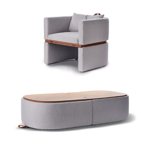 DUAL TRANSFORMABLE CHAIR - BENCH - COFFEE TABLE